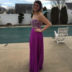 Prom dress magenta